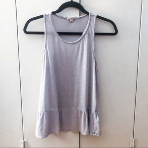 Relaxed Periwinkle Peplum Tank